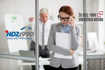 """ŽO HDZ 1990 ŽSB: Federalna vlada """"živi"""" u jednoj, a radnici i poslodavci u drugoj BiH"""