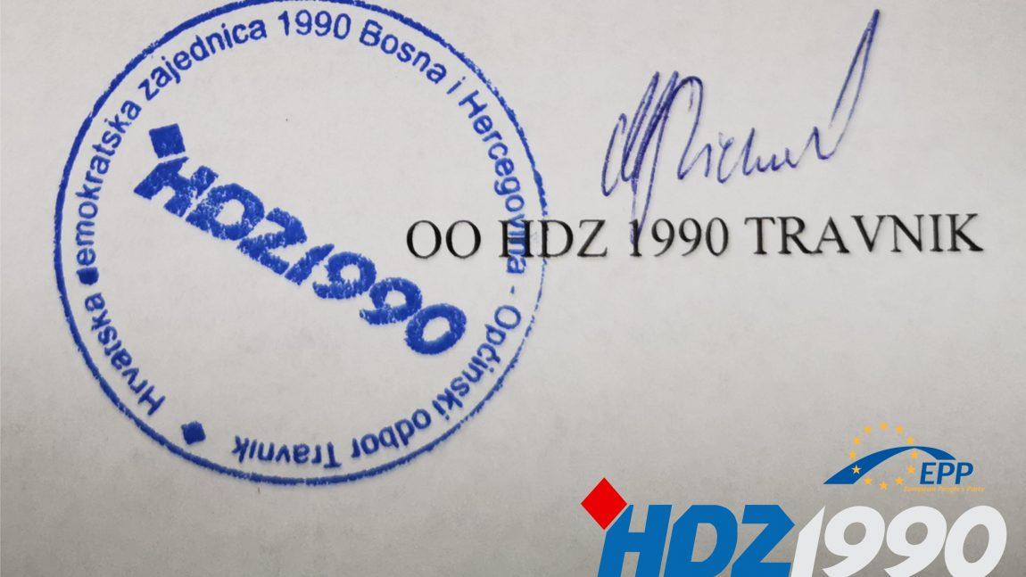 Ustroj Travnika-otvoreno pismo OO HDZ 1990 Općine Travnik općinskim odborima: SDP, Narod i Pravda i Naša stranka