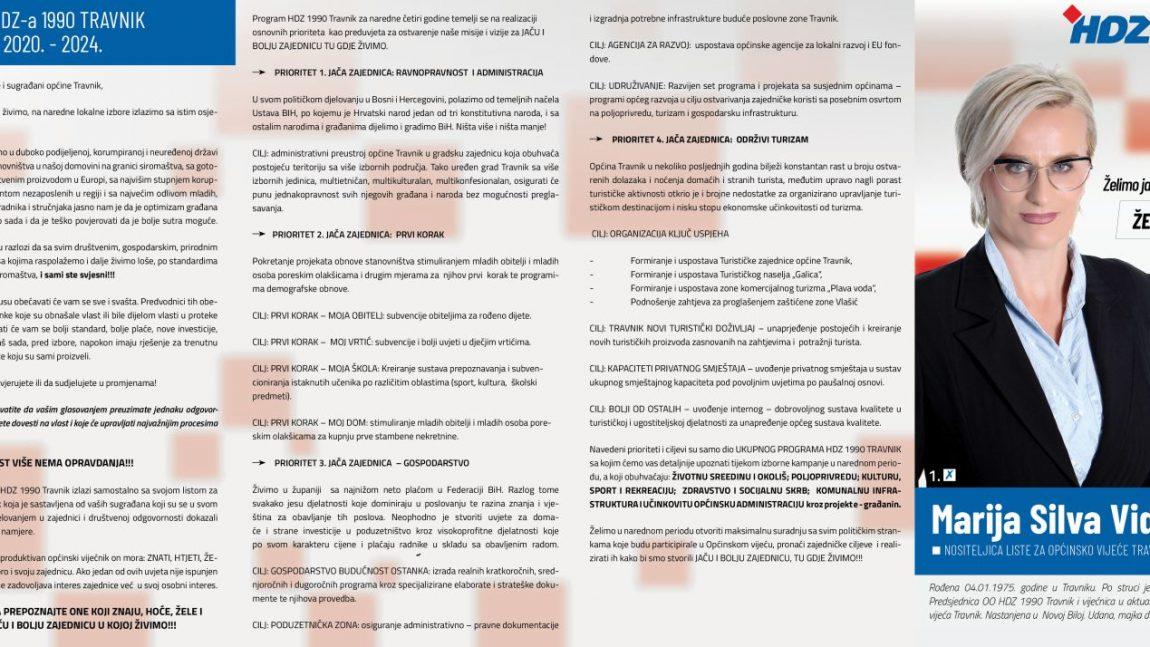 Izborni program HDZ 1990 Travnik – lokalni izbori 2020.